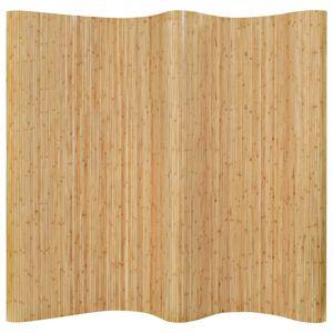 Möbel® Paravent Raumteiler Draußen drinnen-Vintage design-Freistehend Trennwand-Balkonsichtschutz Bambus 250x165 cm Natur👍6470