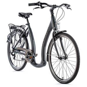 """26 ZOLL Damen Fahrrad CITY Fahrrad Tiefe Anstieg NEU Modell Ema Lady 2021 Leaderfox Rahmenhöhe 19"""" (46 cm) Grau/Matt"""
