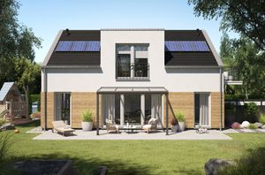 REXOpremium Alu Terrassenüberdachung 4m x 2m mit Stegplatten