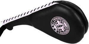 Kunstleder Taekwondo Handpratze Doppelpolster Hand Schlag Pratze Taekwondo Fußtechniken Trainingsgerät-Rot/Blau/Schwarz