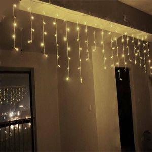 5M 216 LED warmweiß Weihnachtslichterkette Lichterkette Eisregen Eiszapfen Deko