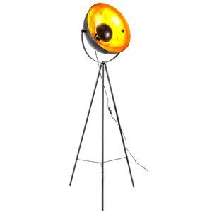 Stehleuchte, 3-Bein, schwarz-gold, H 166 cm, TIMO