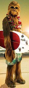 Star Wars Poster Chewbacca Surfin' - Langbahnposter