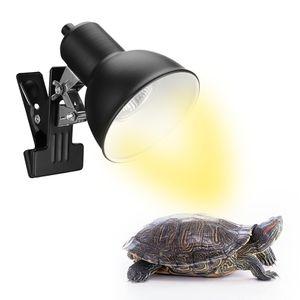 75W Reptilien Wärmelampe Schildkroete Terrarium Heizlicht mit Lampenhalter fuer Reptilien Eidechse AquariumTerrarium