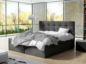Mirjan24 Boxspringbett Luanda, Doppelbett mit zwei Bettkästen und Matratze, Ehebett (Farbe: Muna 10, Größe: 180x200 cm)