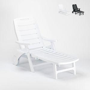 Faltbare Kunststoff-Sonnenliege für Schwimmbad und Strand Premiere Grand SoleilFarbe: Weiß