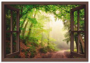 ARTland Alubilder Fensterblick Torbögen durch Bäume Alubild Größe: 70x50 cm