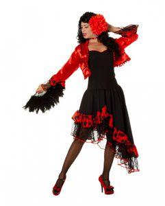 Spanierin Flamenco Kostümkleid mit Bolero für Fasching & Motto Party Größe: 38