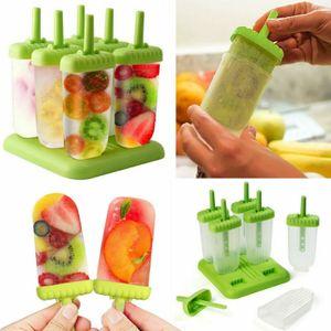 Miixia 6 Stieleisform Eisformen Set Eisförmchen Popsicle Formen Eissticks Eis am Stiel
