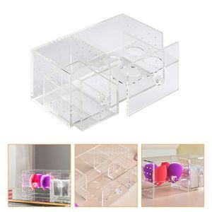 1 Pc Wattepad Box Drawer-Art Make-up Baumwolle Storage Rack (Transparent)