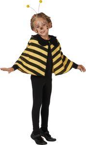 Mottoland Faschingskostüm Bienen Cape, Größe 98, Farbe original