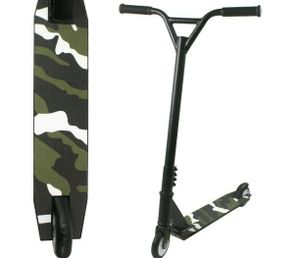 LOCCUS Cityroller Stunt Scooter in Camouflage Army Style Tretroller Kickscooter Funscooter Kinderroller mit ABEC 9