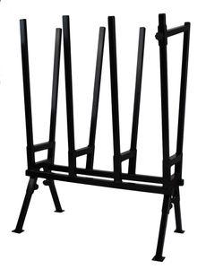 Holzsägebock Schwarz Sägebock verstellbare Sägehilfe Brennholz Sägegestell Metall 2916
