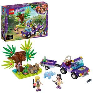 LEGO 41421 Friends Rettung des Elefantenbabys mit Transporter, Spielset mit Stephanie, Abenteuerlager Serie