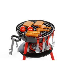 BBQ Party Grill 36x36x50 cm Kindergrill Spielzeug Kunststoff 30 teilig Siva 10460