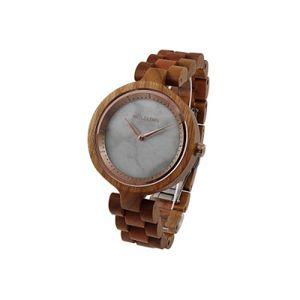 Holzkern Kirschblüte Kirschholz/Marmor Uhr Damenuhr Holz Braun