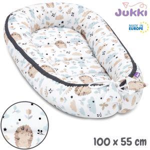 JUKKI® Baby Nestchen 100x55cm bis zu 9 Monaten ★ BAUMWOLLE [Friends Forever] Babybett Reisebett Kokon Babynest Kuschelnest Nest