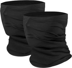 Sturmhauben 2 Stück Mütze Gesichtsmaske Sturmmaske Gesichtstuch UV-Schutz Hals Gamasche Maske