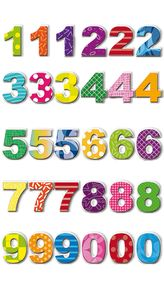 Rössler Papier - - Bunte Zahlen - Liefermenge: 6 Stück