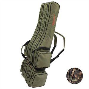 Arapaima Fishing Equipment® Allround Rutentasche Angeltasche mit 4 Innenfächern - 125 cm - Oliv