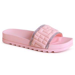 topschuhe24 2097 Damen Plateau Pantoletten Sandalen, Farbe:Rosa, Größe:40 EU