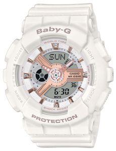 Baby-G Damenuhr Armbanduhr BA-110RG-7AER weiß