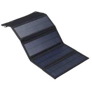 30W Faltbar Solarpanel Bank Akku Solarmodul USB Port Ladegerät Mit 10in1 Kabel 6