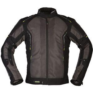 Modeka Khao Air Motorrad Textiljacke Farbe: Dunkelgrau/Schwarz, Grösse: S