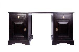 SIT Möbel Schreibtisch | 2 Schubladen, 2 Türen | Akazie-Holz | antikfinish | B 150 x T 68 x H 75 cm | 09807-30 | Serie SAMBA