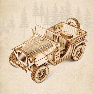 Holzpuzzle-Modell Auto Modellbausätze Für Erwachsene Holzmodell Jeep
