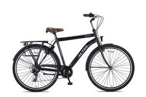 28 Zoll Fahrrad Herren Bike Rad Citybike Herrenfahrrad Cityfahrrad Beleuchtung ALTEC 7 GANG METRO SCHWARZ 50 cm