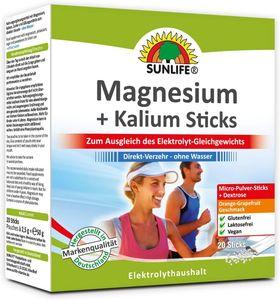 Sunlife Magnesium + Kalium Sticks (20 St.)