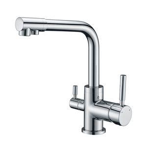 Wasserhahn Küche 3 Wege Trinkwasserhahn Armatur für Wasserfilter Küchenarmatur Spültischarmatur 3 in 1 Mischbatterie Küche