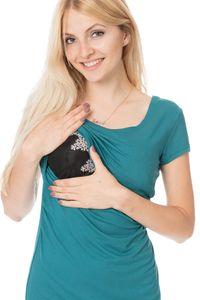 GFWL Umstandskleid Stillkleid #3in1 Schwangerschaftskleid Stillen GF1043XE in Petrol, Größe Damen EU:42 X-Large