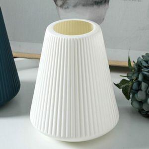 Dekorative Kunststoff  Vase Trockene  Arragenment Topf für Hochzeit Dekoration Farbe Weißer Stil 2