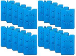 20er Set Flache Kühlelemente blau Kühlakkus Kühlbox Kühlpads Kühltasche