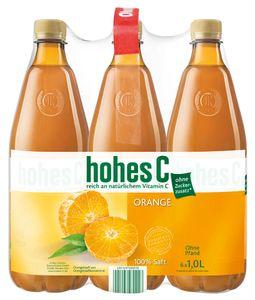 hohes C Orange reich an natürlichem Vitamin C ohne Pfand | 6 x 1 l