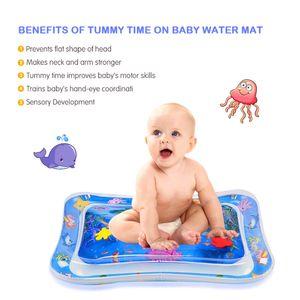 Tummy Time Baby Wassermatte Infant Toy Aufblasbare Spielmatte für 3 6 9 Monate Newborn Boy Girl