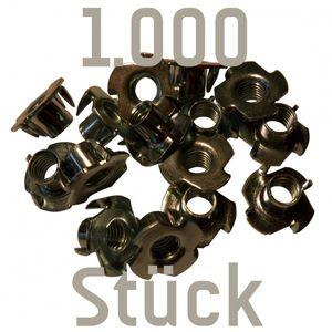 1000 Einschlagmuttern M10 zum Kletterwandbau (für Klettergriffe)