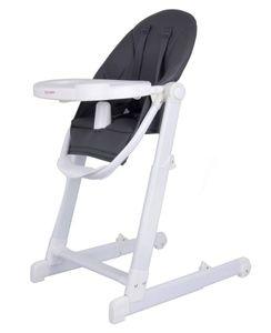 Baby Hochstuhl mit Liegefunktion und Essbrett - 5-Punkt Sicherheitsgurt Höhenverstellbar Kombihochstuhl in Grau