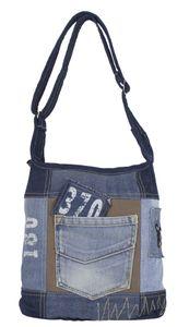 Sunsa Damen Tasche Umhängetasche kleine Schultertasche Handtasche aus Canvas & Jeans blau