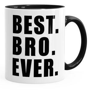 Kaffee-Tasse Best ever Geschenk Spruch MoonWorks® schwarz unisize