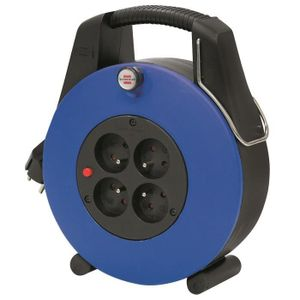 Brennenstuhl Confort-Line Cl-Xl Kabeltrommel H05Vv-F 3 G1,0, Blau, 110