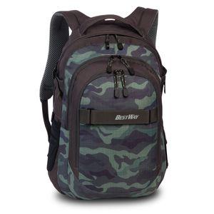 Bestway Evolution Air Schulrucksack Daypack Backpack Rucksack 40177, Farbe:Camouflage