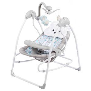 Elektrische Babywiege - Babyschaukel inkl. gratis Schaukelstuhl - All Kids United - Grau
