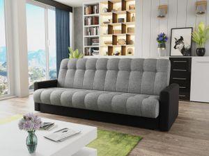 Mirjan24 Schlafsofa Roki, Stilvoll Polstersofa mit Bettkasten und Schlaffunktion, Wohnzimmer Sofa (Soft 011 + Tatum 279)