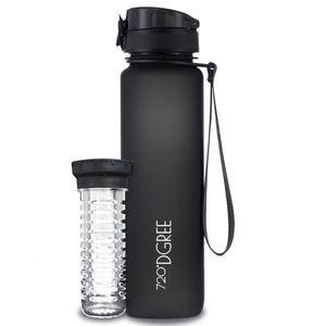 720°DGREE Trinkflasche uberBottle 1000ml, Farbe:onyx black