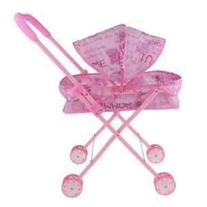 MagiDeal Mini Kunststoff Baby Push Warenkorb Kinderwagen Puppen Accs Kinder