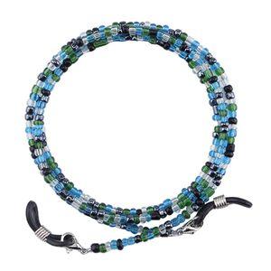 Brillenketten Glasperlen Brillenbänder Sonnenbrille Lesebrille Kordel, Anti-Rutsch 75cm Blau Modern Mehrfarbig Brillenkette Halskette