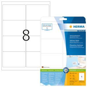 Adressetiketten Premium A4, weiß 99,1x67,7 mm Papier matt 200 St.